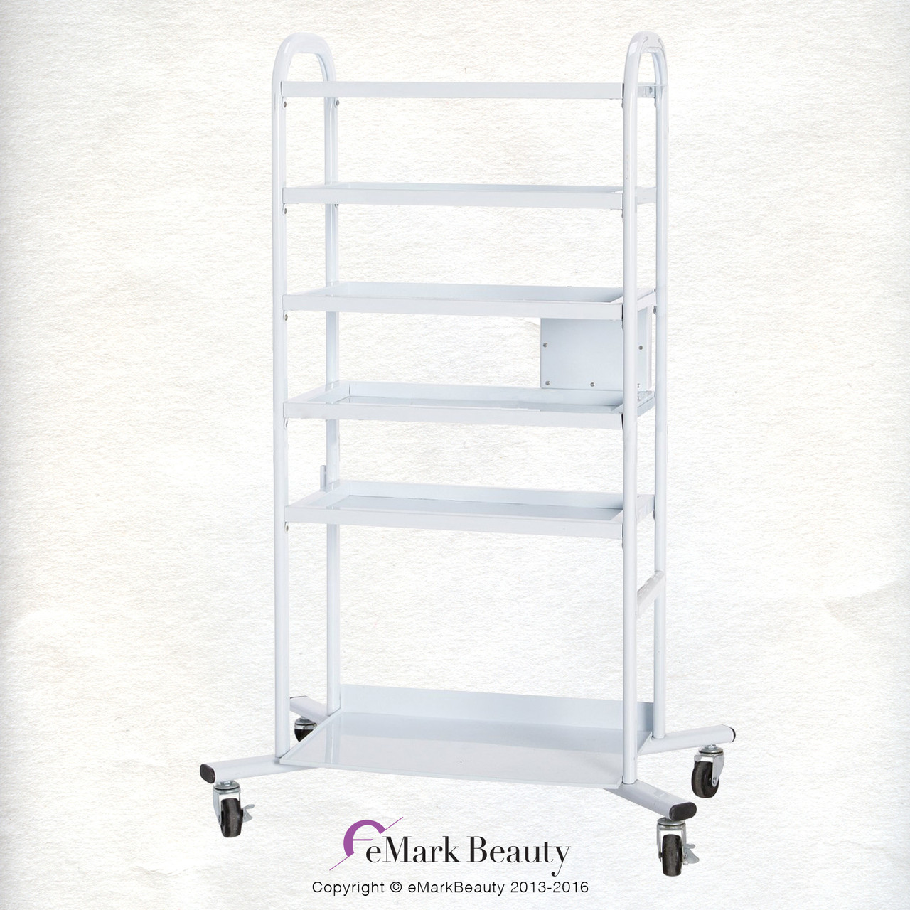 4 Tier Double Wide Mobile Cart Emark Beauty