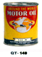 Around The World Motor Oil Cans - Quantity Of Six Cans