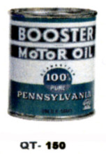 Booster Motor Oil Cans - Quantity Of Six Cans