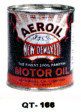 Aeroil Motor Oil Cans - Quantity Of Six Cans