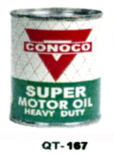 Conoco Super Heavy Duty Motor Oil Cans - Quantity Of Six Cans