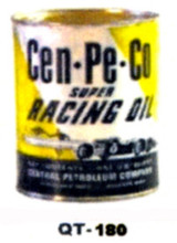 Cen-Pe-Co Racing Motor Oil Cans - Quantity Of Six Cans
