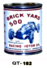 Brick Yard 500 Motor Oil Cans - Quantity Of Six Cans