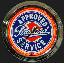 Packard Approved Service Neon Clock