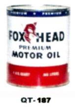 Fox Head Premium Motor Oil Cans - Quantity Of Six Cans