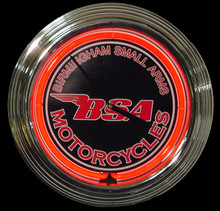 BSA Motorcycle Neon Clock