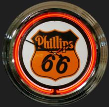 Phillips 66 Gas & Oil Neon Clock