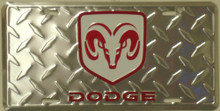 Dodge Ram Diamond Plate License Plate