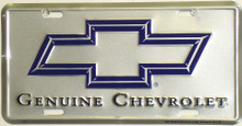 Genuine Chevrolet Silver License Plate