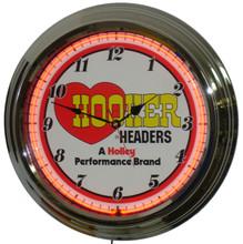 Hooker Headers Neon Clock