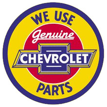 Chevrolet Genuine Parts Yellow Face Round Sign