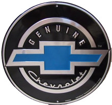 Chevrolet Genuine Black Face Round Sign