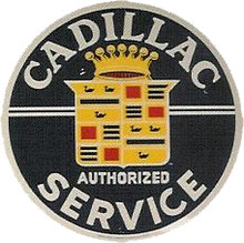 Cadillac Authorized Service  Round Sign