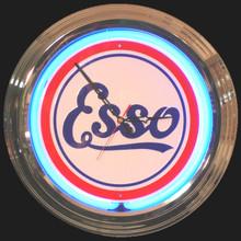 Esso Oil & Gasoline Neon Clock