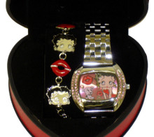 Betty Boop Square Watch & Braclete Set