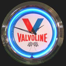 Vavoline Oil Neon Clock