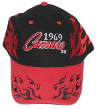 Chevrolet Camaro SS 1969 Red & Black Embroidered Cap