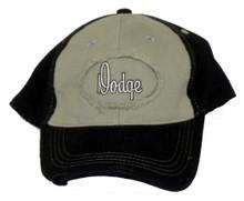 Dodge Script Logo Grey & Black Cap