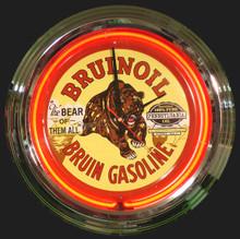 Bruinoil Gasoline Neon Clock