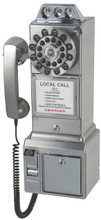Pay Phone 1950's Style Brushed Chrome Finished