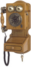 Country Kitchen Wood Finish Wall Phone