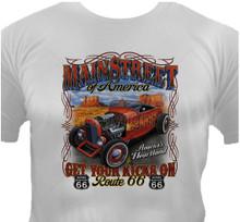 Mainstreet Route 66 Hot Rod T-Shirt