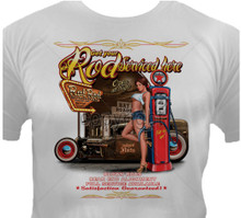 Get Your Rod Serviced Here Hot Rod Garage T-Shirt
