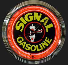 Signal Gasoline Neon Clock