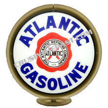 Atlantic Gasoline Gas Pump Globe
