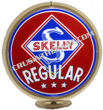 Skelly Regular Gasoline Gas Pump Globe