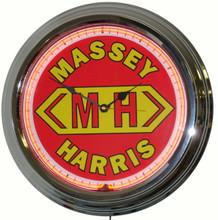 Massey Harris Tractor Neon Clock
