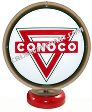 Conoco Triangle Gasoline Gas Pump Globe Desk Lamp
