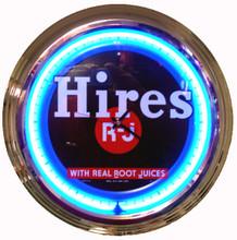 Hires Root Beer Neon Clock