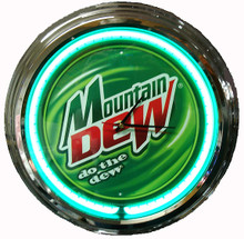 "Mountain Dew ""Do The Dew"" Neon Clock"