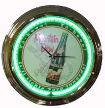 """Mountain Dew """"Tickle Your Inerds"""" Neon Clock"""