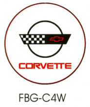 Corvette C4 White Floor Graphics