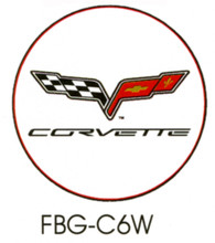 Corvette C6 White Floor Graphics