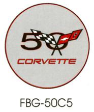 Corvette 50th Anniversary Grey Floor Graphics