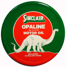 Sinclair Opaline Gasoline Round Metal Tin Sign