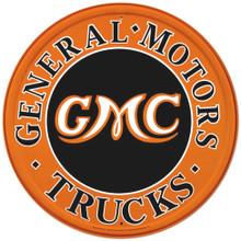 GMC Trucks Round Tin Sign