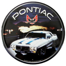 Pontiac Firebird Trans Am Round Tin Sign