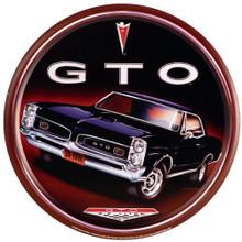 Pontiac Classic GTO Round Tin Sign