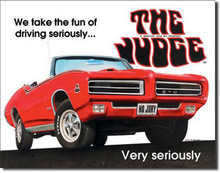 "Pontiac GTO Judge Classic ""The Judge"" Tin Sign"