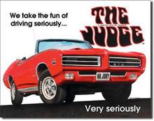 "Pontiac GTO Judge Classic ""The Judge"" Tin Sign"