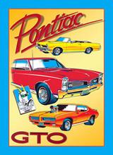 "Pontiac GTO ""Classic Cars"" Tin Sign"