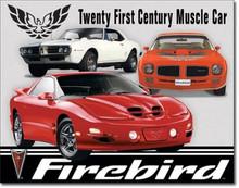 """Pontiac Firebird """"Muscle Cars"""" Tin Sign"""