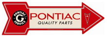 Pontiac Quality Parts Arrow Tin Sign