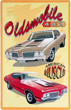 "Oldsmobile 442 ""American Muscle"" Tin Sign"