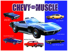 Chevrolet Muscle Cars Tin Sign