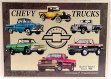 Chevrolet Trucks Since 1918 Tin Sign